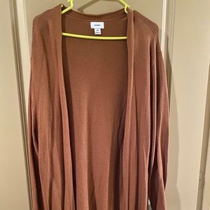sweater, long cardigan